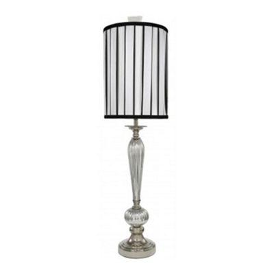 Mercury Statement Lamp with Black and White Shade