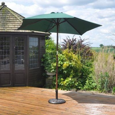 Kingfisher P27G 2.4 m Wooden Garden Parasol - Green
