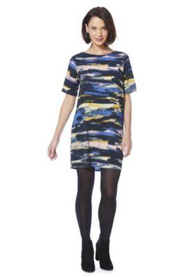 JDY Graphic Stripe V Back Shift Dress XS Multi