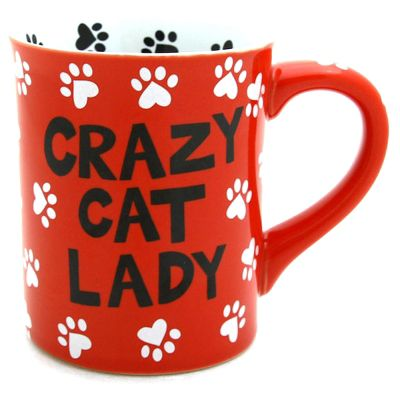 Our Name Is Mud Crazy Cat Lover Mug