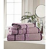 Towel Egyptian Cotton 'Pin Tuck Heather' Plain Bath