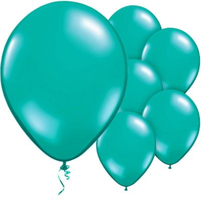 Teal 11 inch Latex Balloons - 50 Pack