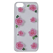 Tortoise™ Hard Protective Case,iPhone 5/5S.Clear with Rose Print.
