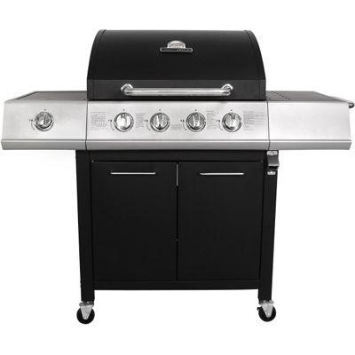 Charles Bentley Premium Black 4 Burner Gas BBQ with side burner