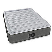 Intex Comfort Plush Mid Rise Queen Size Airbed with Built-in Electric Pump