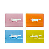 Scion Mr Fox Set of 4 Placemats, Pink