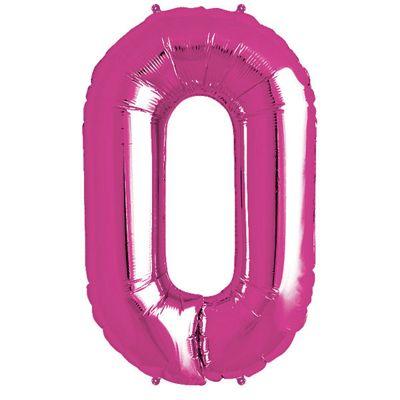 Magenta Letter O Balloon - 34 inch Foil