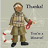 Holy Mackerel You're a lifesaver Greetings Card