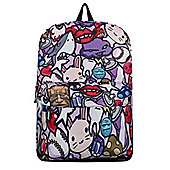 Cosmic Jumble Purple Backpack 32x42x11cm