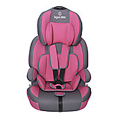 Seguro Bebe Bravo Isofix Group 1 2 3 Child Car Seat - Pink on Grey