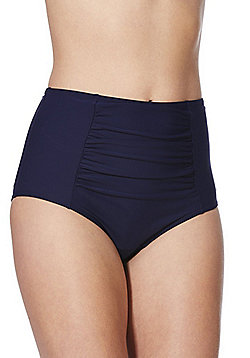 F&F Shaping Swimwear High Waist Bikini Briefs - Navy