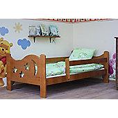 Camila Moon & Stars Toddler Bed Alder & Safety Foam Mattress