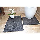 Rapport 2 Piece Bath Mat Set - Grey