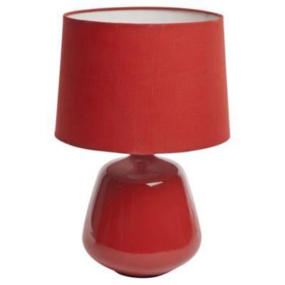 Pasadena Ceramic Table Lamp, Red