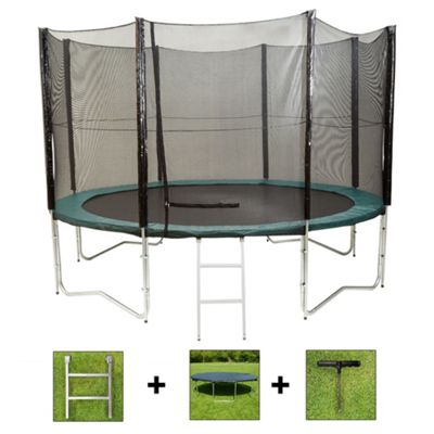Up and About 14ft Air Pro Advanced Trampoline Package with Free Ladder, Weather Cover and Building Tool