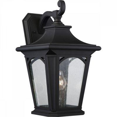 Mystic Black Large Wall Lantern - 1 x 100W E27