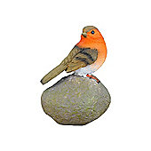 Robin on a Stone Resin Garden Ornament