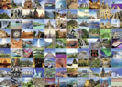 99 Beautiful Places On Earth Puzzle