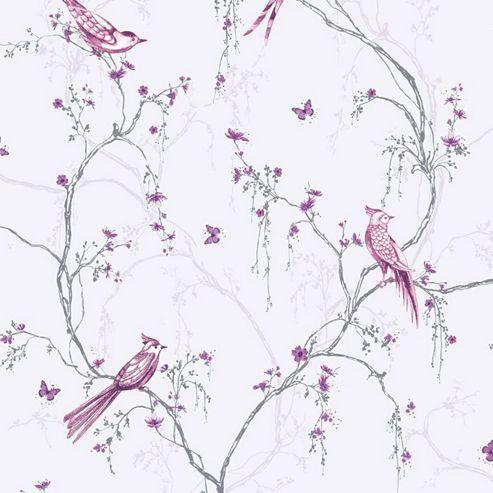 Superfresco Easy Songbird Paste The Wall Lilac Wallpaper