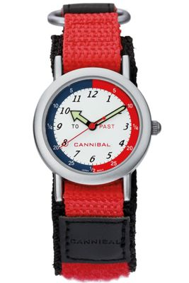 Cannibal Time Teacher Unisex Red Material Strap Watch CT003-06