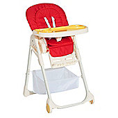 Homcom Baby Highchair Feeding Seat Toddler Adjustable Recline 108H - Red