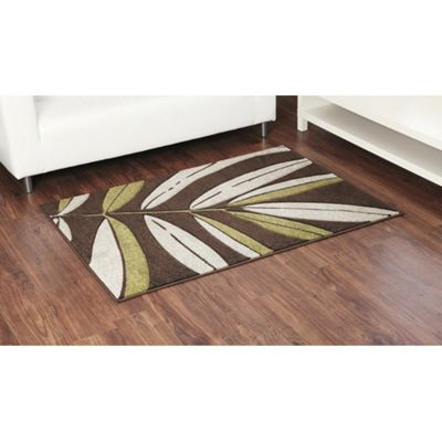 Ultimate Rug Co Rapello Tropical Chocolate / Lime Contemporary Rug - 120cm x 165cm
