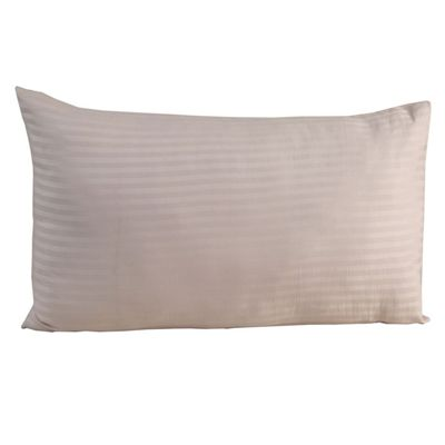 Homescapes Pink Egyptian Cotton Satin Stripe Housewife Pillowcase 330 TC, Standard Size Pillow Cover