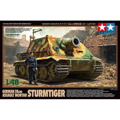TAMIYA 32591 German 38cm Assault Mortar Sturmtiger 1:48 Military Model Kit