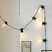 20 Clear Bulb Warm White LED Connectable Festoon Lights