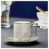 Fox & Ivy Soho White Espresso Cup & Saucer