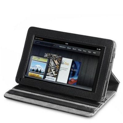 U-bop Neo-Orbit Quad-Angle Flip Case Black - For Amazon Kindle Fire HD