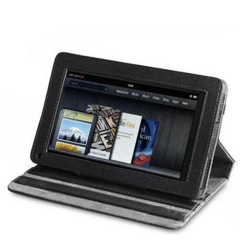 U-bop Neo-Orbit Quad-Angle Flip Case Black - For Amazon Kindle Fire HD
