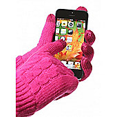 Trendz Touch Screen Gloves Cable Knit Medium