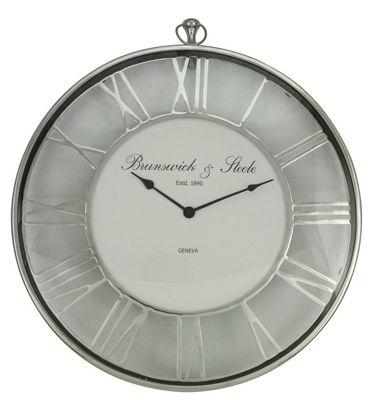 Round Nickel Wall Clock