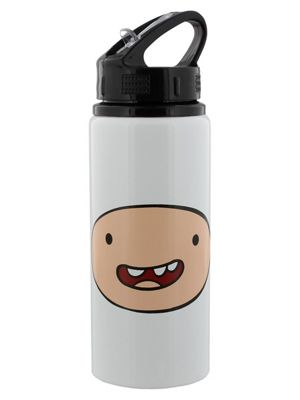 Adventure Time Finn and Jake Aluminium Drinking Flask, White