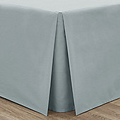 Catherine Lansfield Non Iron Percale Duck Egg Box Pleated Base Valance Sheet - Double