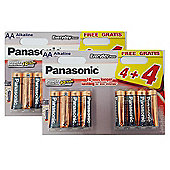 16 x Panasonic AA Batteries Everyday Power Silver Alkaline LR6