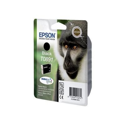 Epson DURABrite Ultra T0891 Ink Cartridge - Black (Inkjet - 1)