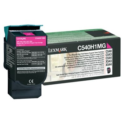 Lexmark High Yield Toner Cartridge For C54x, X54x Colour Laser Printers - Magenta