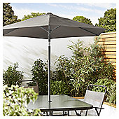 Tesco Tilting Garden Parasol in Mesh Bag, Grey, 1.8m