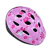 Ammaco Izzie Pink Flowers Kids Bike Helmet 48-54cm