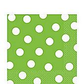 Lime Green Polka Dot Napkins - 33m