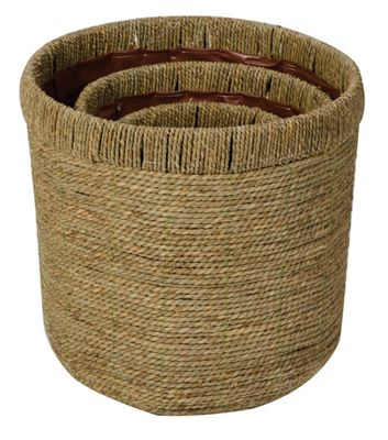 Set of 3 Round Sea Grass Baskets