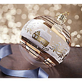 Gold & White Forest Christmas Bauble