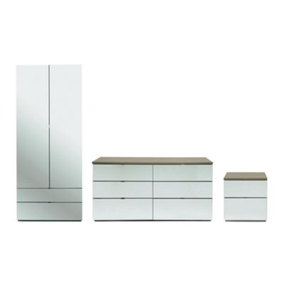 Palermo Package 2 Taupe (Wardrobe, Bedside Tables, 6 Drawer Chest)