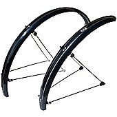 Stronglight Tour (S) 26inch x 54mm Mudguard Set: Black.
