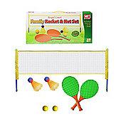 MY Family Tennis & Badminton Set With Balls, Shuttlecocks, Net & Raquet Racket