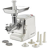 Andrew James Premium Electric Meat Grinder with Mincer & Sausage Maker - 700W - White