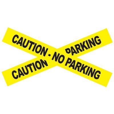 No Parking Caution Tape