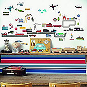 Transport Vehicles, 33 Wall Stickers